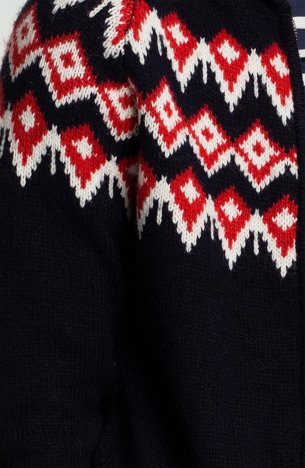 Alternate Image 3  - Topman Nordic Pattern Zip Shawl Collar Cardigan