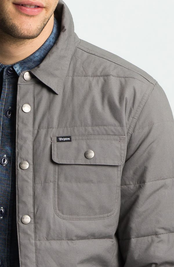'Cass' Quilted Jacket,                             Alternate thumbnail 3, color,                             Grey