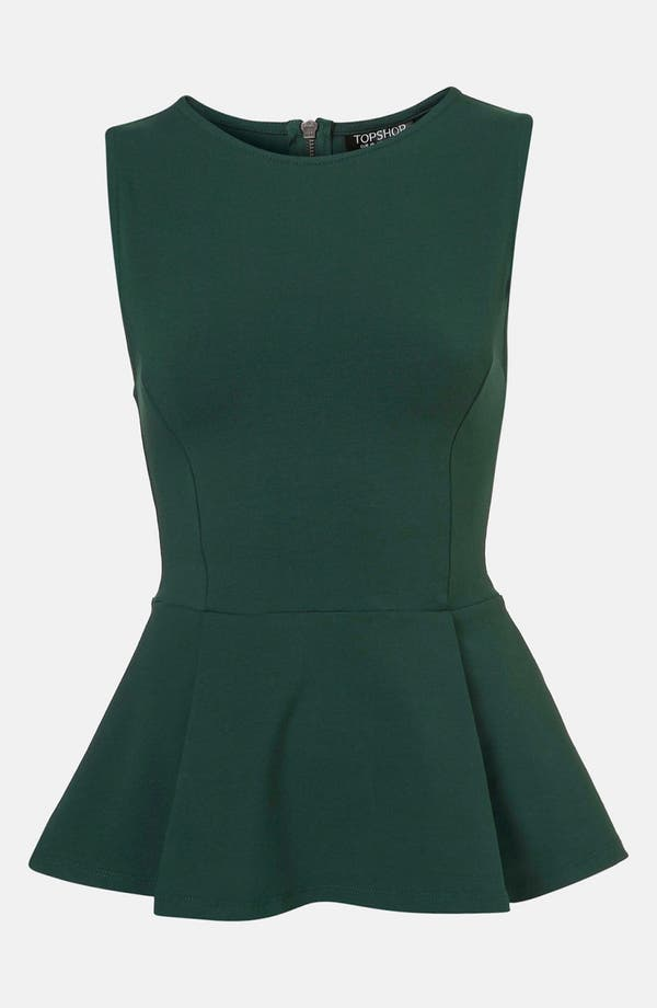 Alternate Image 1 Selected - Topshop Peplum Tank