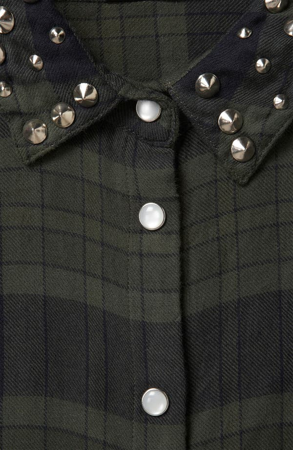 Alternate Image 3  - Topshop Stud Collar Plaid Shirt