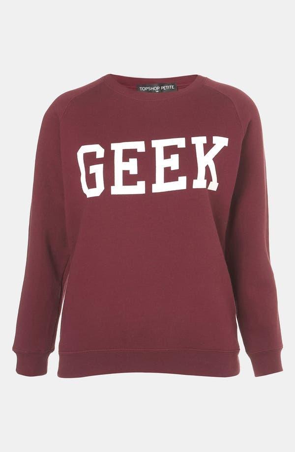 Main Image - Topshop 'Geek' Sweatshirt (Petite)