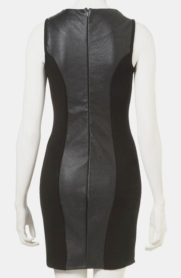 Alternate Image 2  - Topshop Faux Leather Body-Con Dress