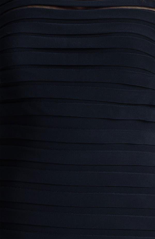 Alternate Image 3  - Adrianna Papell Illusion Bodice Pleated Jersey Sheath Dress (Plus Size)
