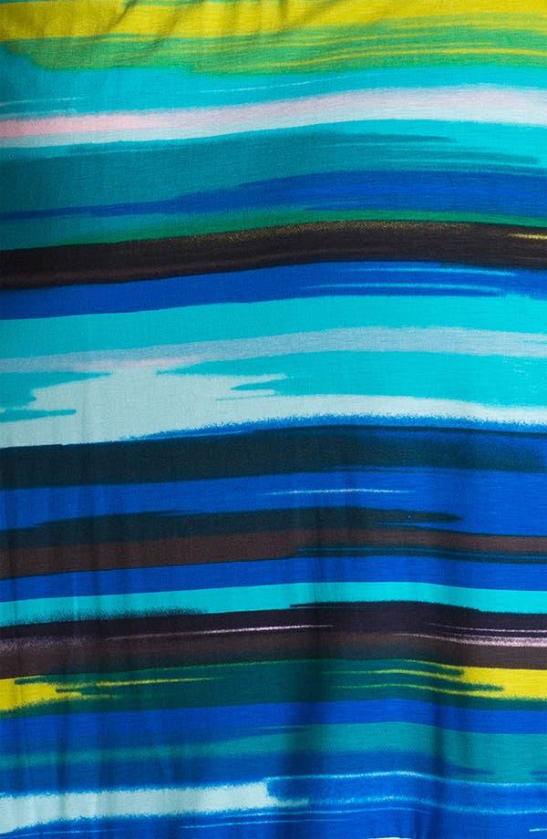 Alternate Image 3  - Calvin Klein Multi Stripe V-Neck Jersey Dress (Plus)