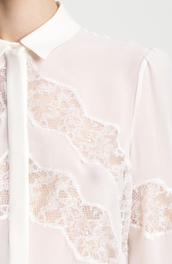 Alternate Image 3  - Valentino Lace Accent Georgette Blouse