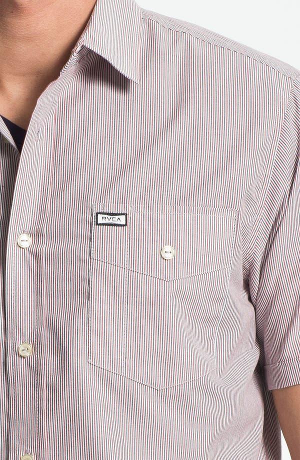 Alternate Image 3  - RVCA 'Creedance' Stripe Woven Shirt