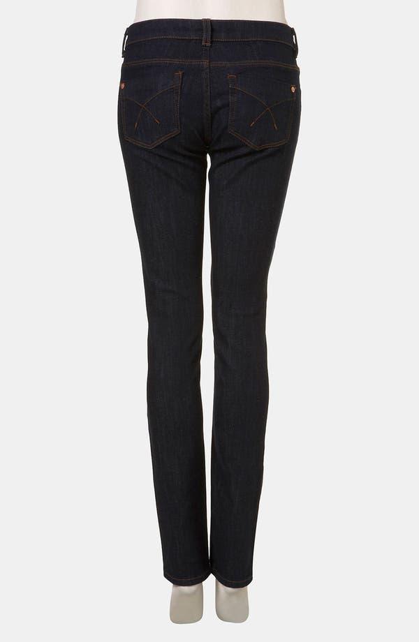 Alternate Image 2  - Topshop Moto 'Baxter' Skinny Jeans (Indigo) (Petite)