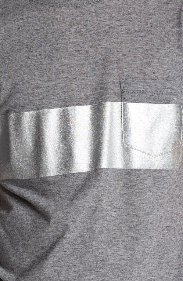 Alternate Image 3  - U Clothing 'Beau' Chest Stripe Pocket T-Shirt
