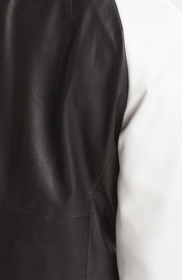 Alternate Image 3  - Trouvé Colorblock Raglan Sleeve Leather Jacket