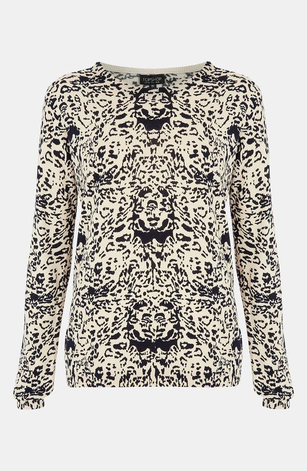 Alternate Image 1 Selected - Topshop Animal Print Sweater