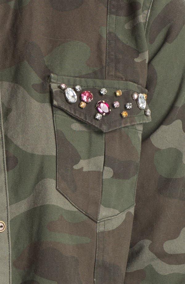Alternate Image 3  - Elodie Embellished Army Jacket (Juniors)
