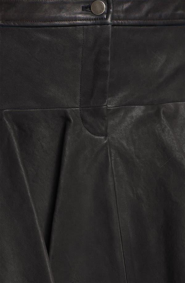 Alternate Image 3  - Thakoon Addition Pleated Leather Miniskirt