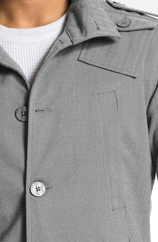 Alternate Image 3  - Kane & Unke Herringbone Trim Fit Military Jacket