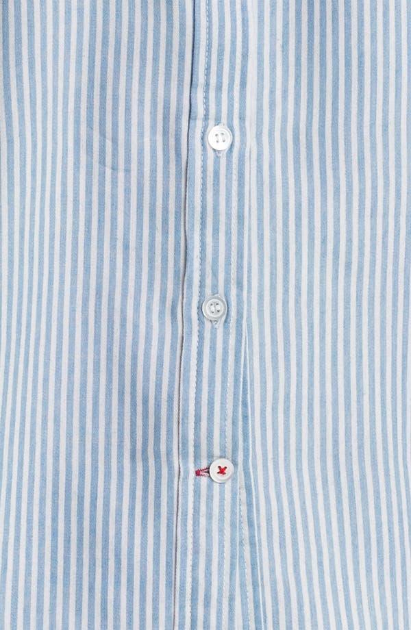 Alternate Image 3  - Sandra Ingrish Roll Sleeve Stripe Shirt