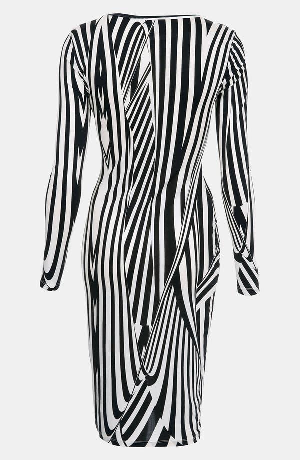 Alternate Image 2  - Topshop Black & White Optical Body-Con Dress
