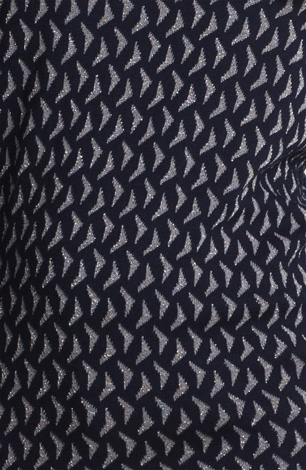 Alternate Image 3  - Anne Klein Scoop Neck Metallic Pattern Sweater (Petite)