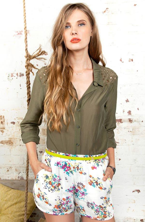 Alternate Image 4  - Ella Moss 'Heidi' Eyelet Lace Trim Shirt
