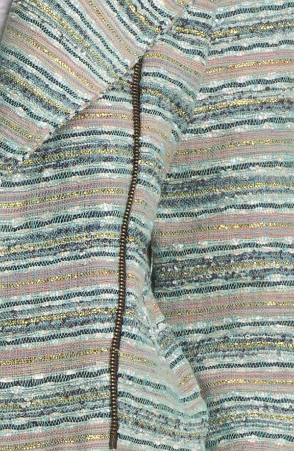 Alternate Image 3  - Gibson Shimmer Stripe Biker Jacket