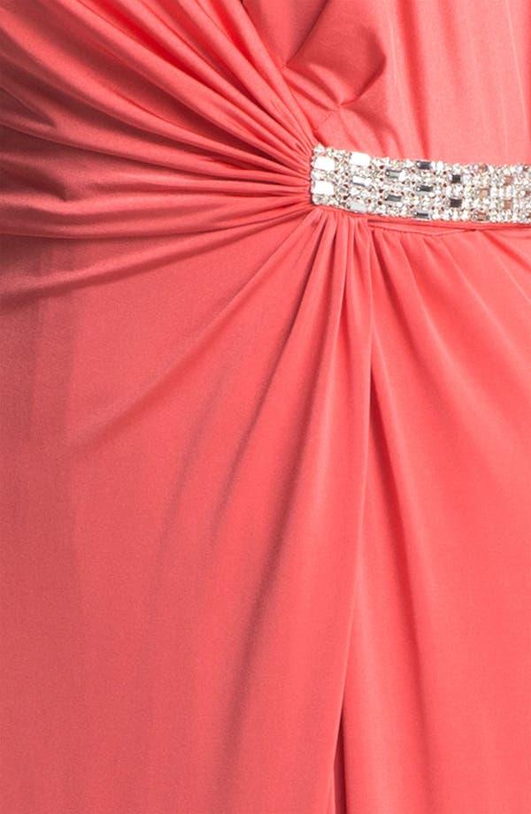 Alternate Image 3  - Calvin Klein Embellished V-Neck Draped Jersey Gown