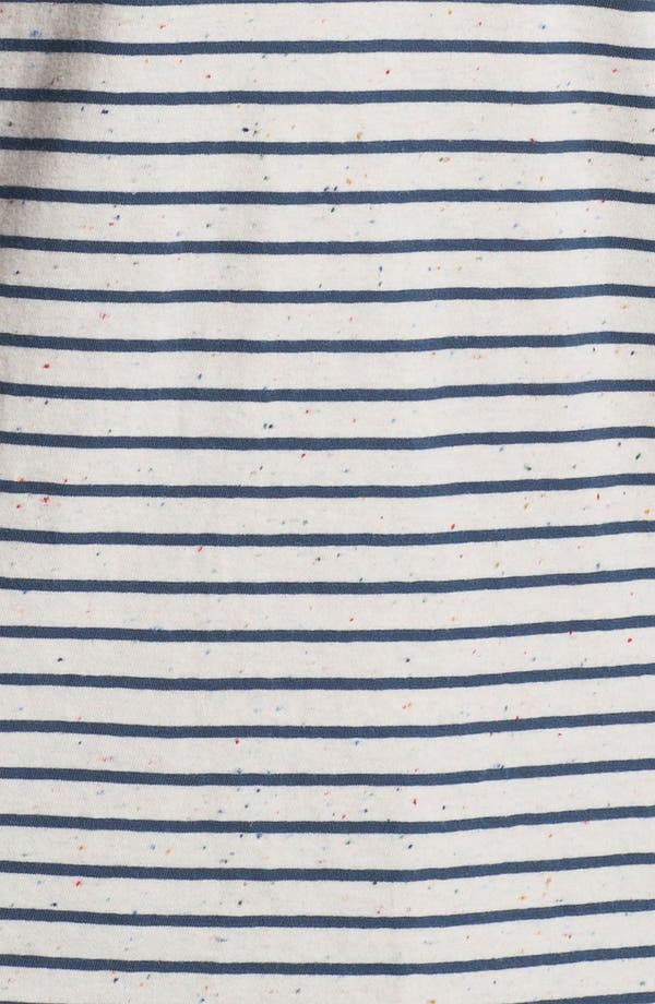 Alternate Image 3  - Nudie Mixed Stripe Cropped Sleeve T-Shirt
