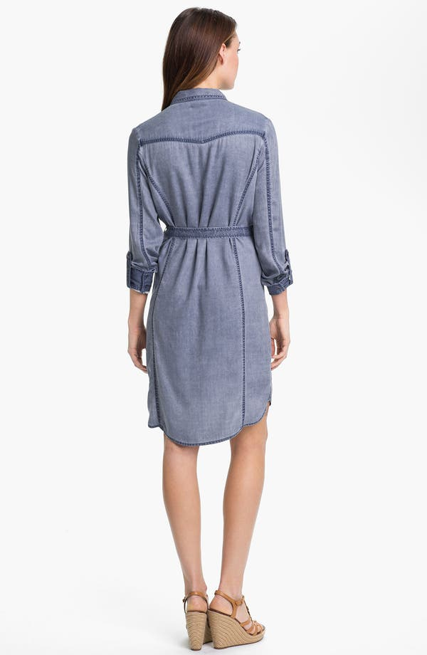 Alternate Image 2  - Caslon Roll Sleeve Shirtdress