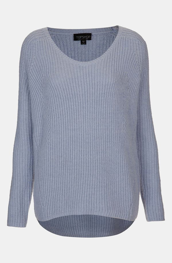 Alternate Image 1 Selected - Topshop Scoop Neck Sweater