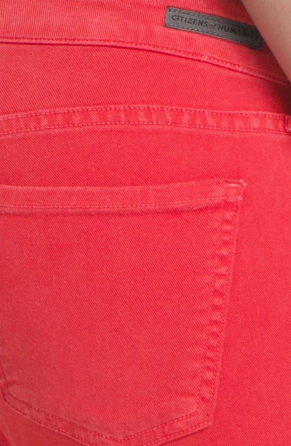 Alternate Image 3  - Citizens of Humanity 'Logan' Moto Skinny Jeans (Tulip)