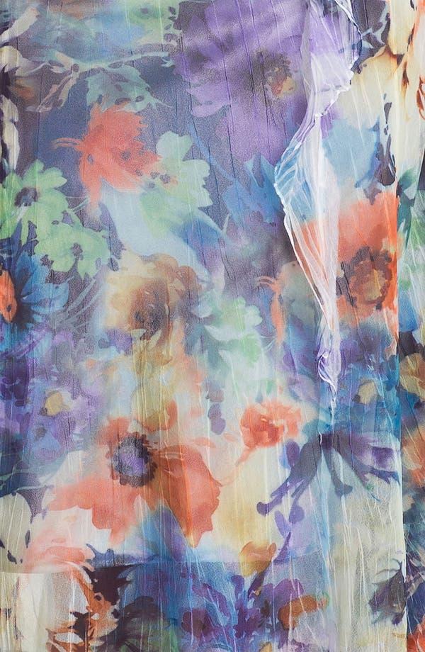 Alternate Image 3  - Komarov Ruffled Print Chiffon Dress