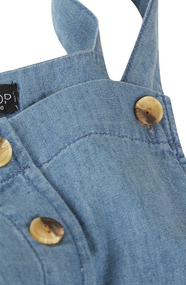 Alternate Image 3  - Topshop Button Front Denim Jumper