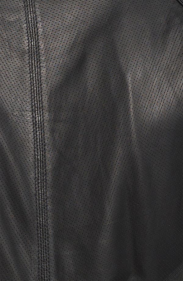 Alternate Image 3  - La Marque Leather Baseball Jacket