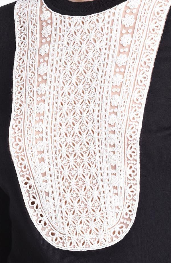 Alternate Image 3  - Valentino Embroidered Bib Knit Top