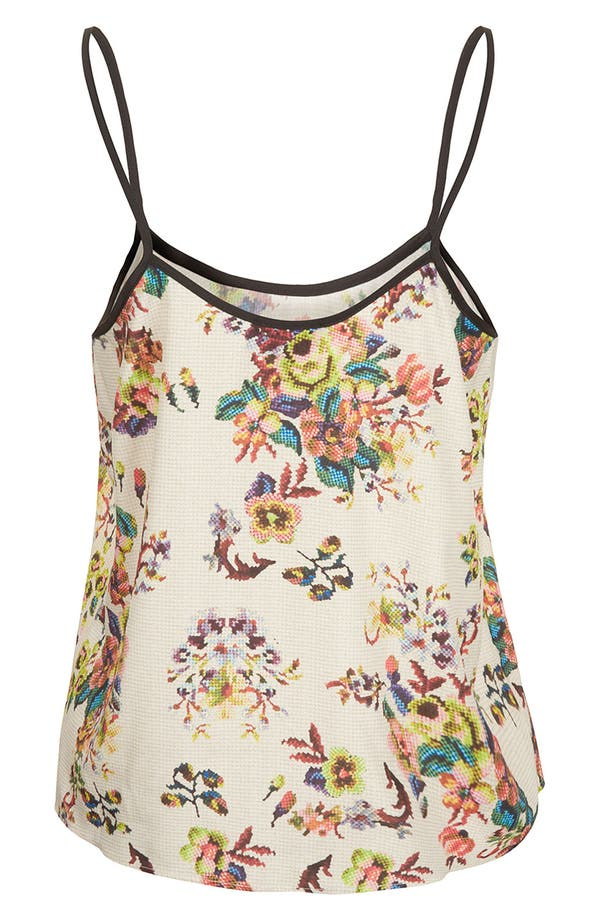 Alternate Image 2  - Topshop Tapestry Print Camisole (Petite)