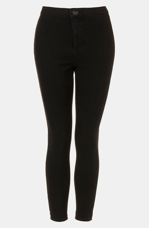 Main Image - Topshop 'Black Joni' Skinny Jeans (Petite)