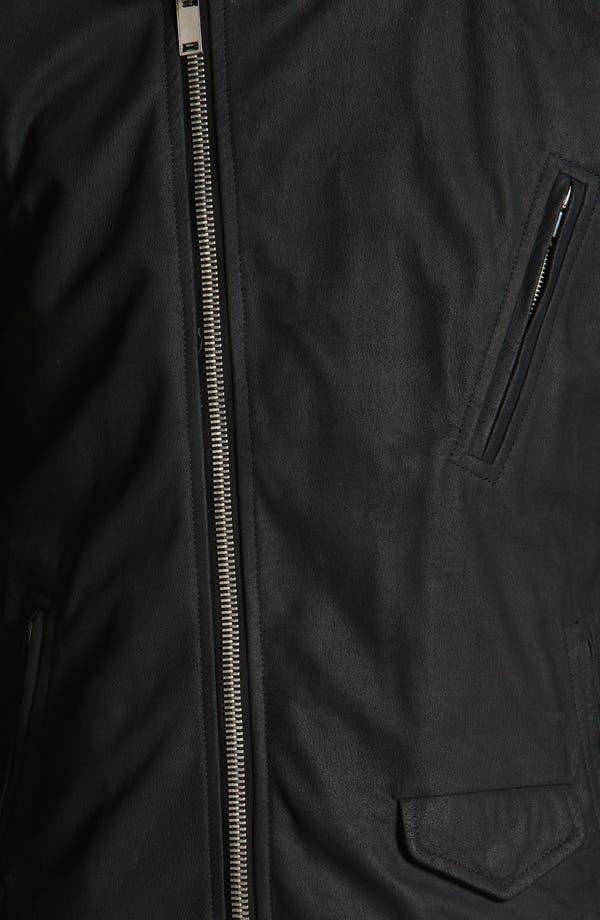 Alternate Image 4  - Rick Owens Lambskin Leather Biker Jacket