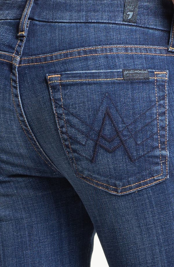 Alternate Image 3  - 7 For All Mankind® 'Lexie A' Jeans (Washed Medium Indigo) (Petite)