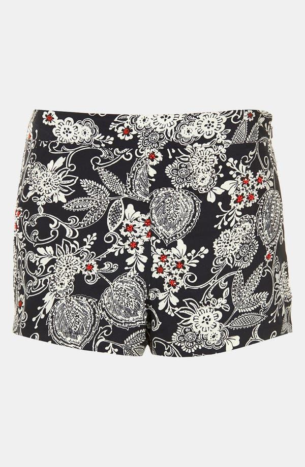 Alternate Image 3  - Topshop Beaded Print Shorts