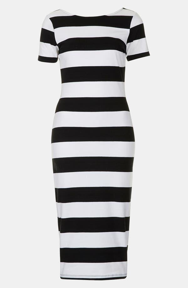 Alternate Image 2  - Topshop 'Big Stripe '50s' Midi Dress