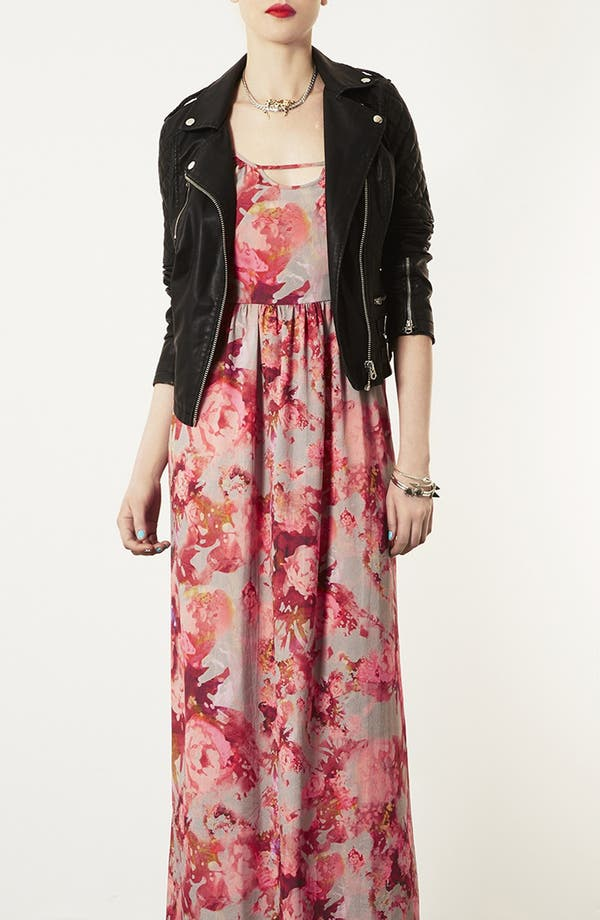 Alternate Image 4  - Topshop 'Blur' Floral Maxi Dress