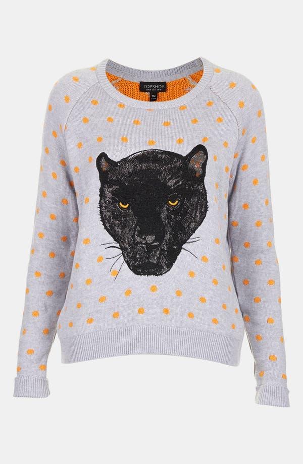 Alternate Image 3  - Topshop Panther Motif Sweater