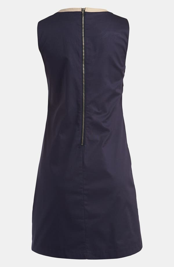 Cutout Dress,                             Alternate thumbnail 2, color,                             Navy With Taupe