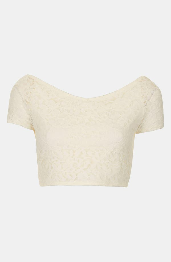 Alternate Image 3  - Topshop Lace Crop Top