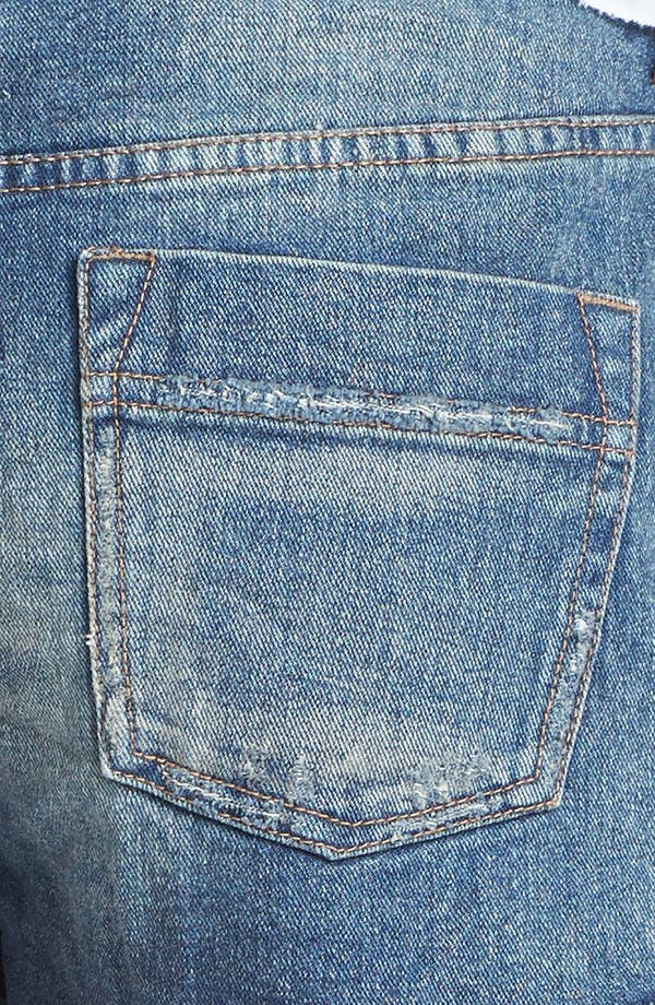 Alternate Image 3  - Free People 'Tulum' Vintage Denim Cutoff Shorts (True Blue)