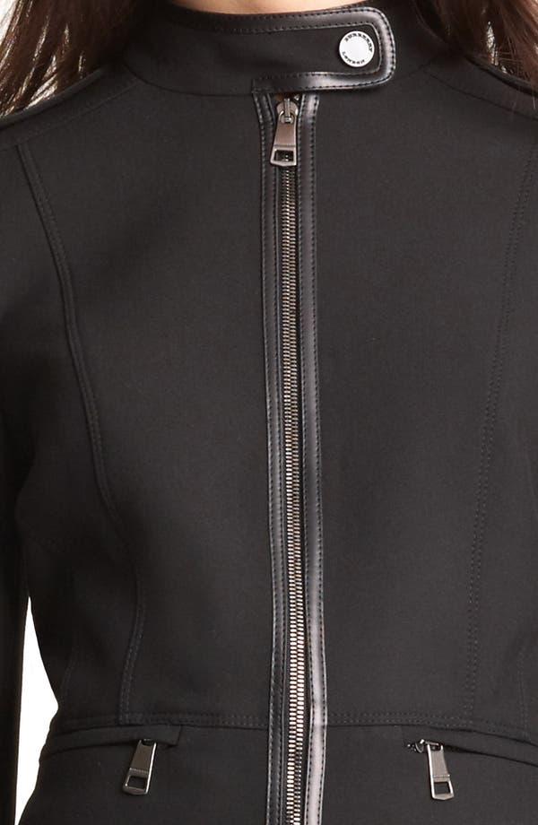 Alternate Image 4  - Burberry London Leather Trim Stretch Jersey Jacket