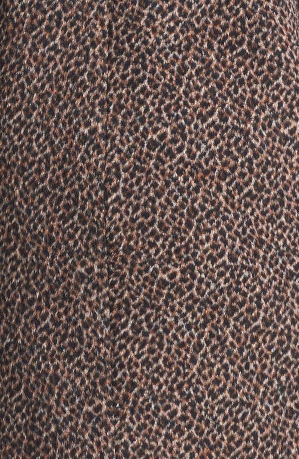 Alternate Image 3  - Tulle Animal Print Oversized Collar Coat (Juniors) (Online Only)