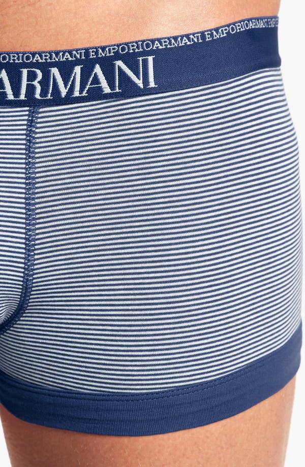 Alternate Image 3  - Emporio Armani Yarn Dyed Trunks