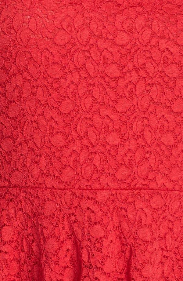 Alternate Image 3  - Vince Camuto Lace Peplum Top (Plus Size)