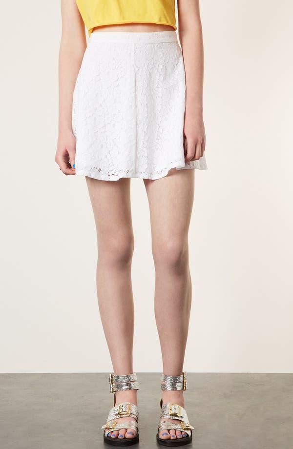 Lace Skater Skirt,                         Main,                         color, White
