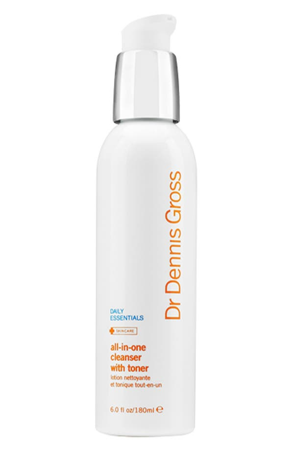 All-in-One Facial Cleanser with Toner,                         Main,                         color, No Color