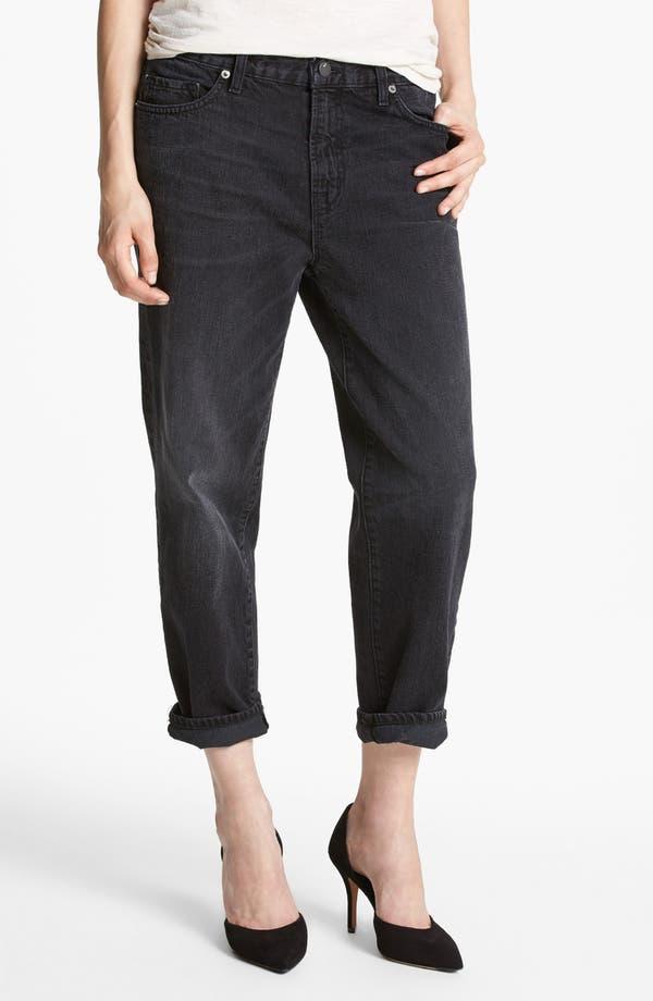 Alternate Image 1 Selected - J Brand '1265 Ace' Crop Boyfriend Jeans (Arcadian Black)