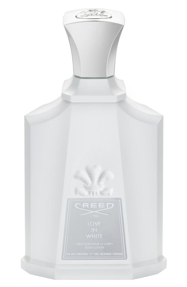'Love in White' Body Lotion,                             Main thumbnail 1, color,                             No Color